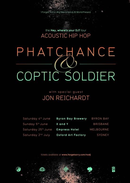 PhatchanceCopticSoldier_HeyWhere'sYourDJTour_Poster_v003.indd